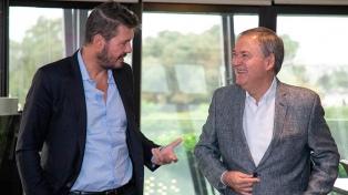 Tinelli se reunió con el gobernador Schiaretti
