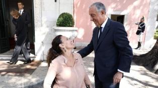 Michetti se reunió con el presidente de Portugal