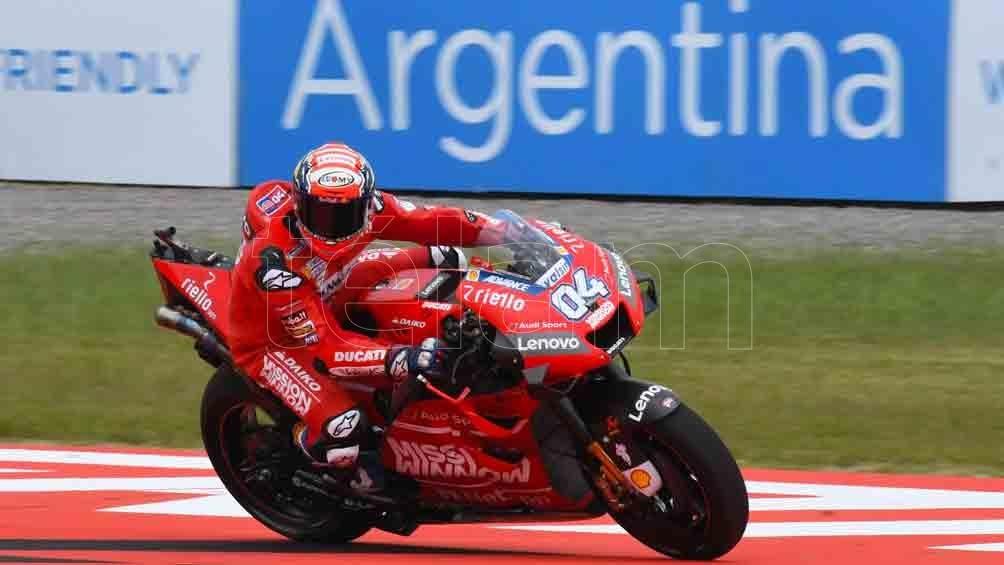 Dovizioso y su Ducati marcaron el ritmo en la competencia que se disputa en Argentina