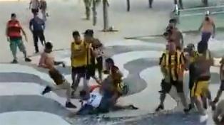 Dos heridos graves por enfrentamientos entre hinchas de Flamengo y Peñarol