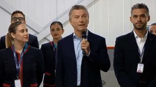 """Macri dijo que la """"revolución de los aviones"""" es la """"revolución del federalismo"""""""