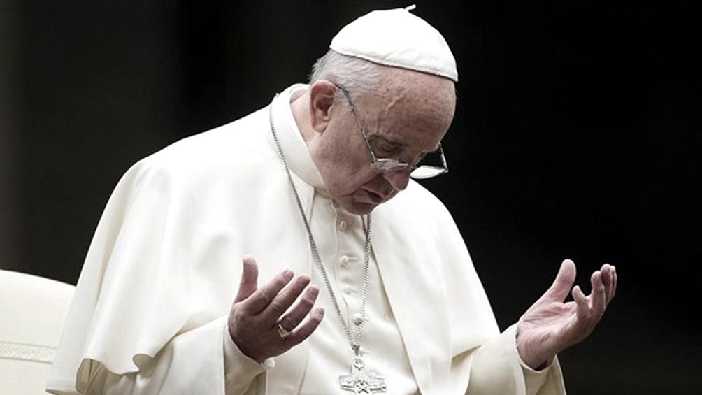 Francisco pidió rezar para que se encuentre una cura para el coronavirus
