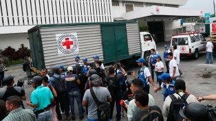 La Cruz Roja introdujo medicamentos y grupos electrógenos para hospitales