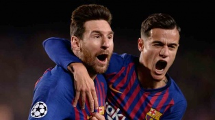 Barcelona, con gran partido de Messi, goleó al Manchester United