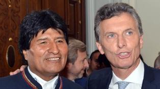 Macri recibe el lunes a Evo Morales con una agenda que incluye el gas, salud y Venezuela