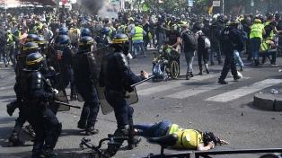 """Un gran despliegue policial limitó los disturbios de los """"chalecos amarillos"""""""