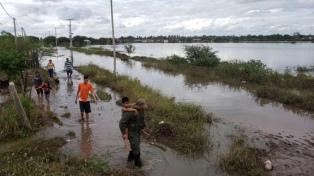 Más de 600 de personas siguen evacuadas por la persistencia de lluvias