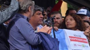 """Paro y marcha del Moyanismo y las CTA: pidieron """"unidad"""" sindical y """"derrotar"""" al Gobierno"""