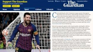 """El diario inglés The Guardian califica a Messi como """"de otro planeta"""""""