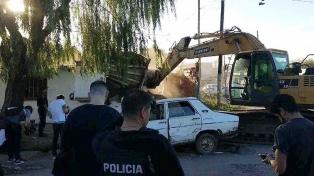 Derribaron un búnker de droga en La Plata y es el 114 destruido en la provincia