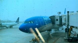 Un total de 105 vuelos fueron afectados por tormentas y asambleas