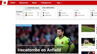 """En Europa hablan del """"milagro del Liverpool"""" y la """"explosión del Barcelona"""""""