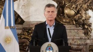 """Macri: """"La sociedad argentina necesita esta reacción colectiva"""""""
