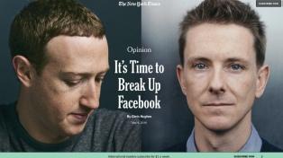 El cofundador de Facebook pide dividir la compañía