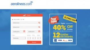 La venta de vuelos de cabotaje superó la de los internacionales en el Hot Sale