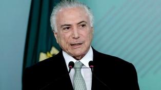 """El ex presidente brasileño Temer calificó la destitución de Dilma Rousseff como un """"golpe"""""""