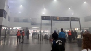 Humareda por la quema de basura afectó la estación de Once en hora pico