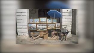 Bansky denuncia con una representación artística el paso de cruceros en Venecia