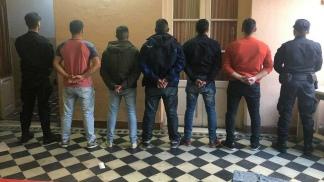 Algunos de los policías detenidos.