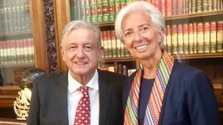 """Lagarde felicitó a López Obrador por buscar políticas fiscales """"prudentes"""""""