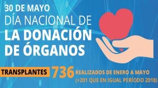 Ya se realizaron 201 donaciones de órganos más que el año pasado en el mismo período