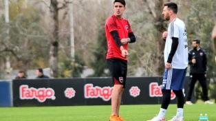 Messi le marcó dos goles a Newell's en el amistoso con el seleccionado argentino