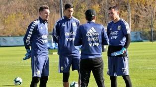 Se sumó Andrada y Argentina ya entrena con el plantel completo