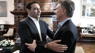 Gobernadores radicales en Casa Rosada: Macri recibió a Valdés y Peña, a Cornejo