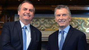 Macri le entregará la presidencia del Mercosur a Bolsonaro, que pidió por su reelección