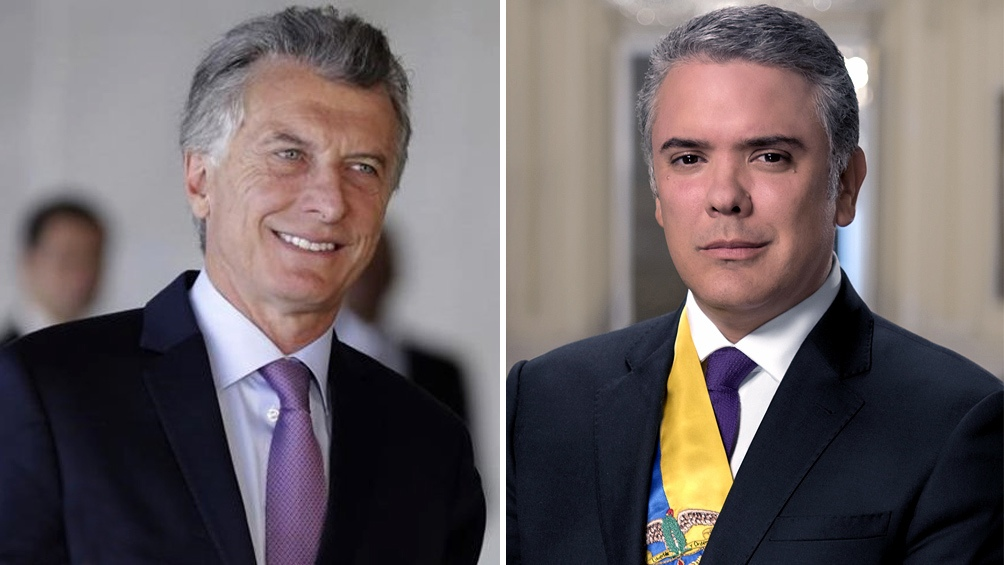 Macri recibió en Olivos al presidente de Colombia