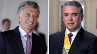 El presidente Macri recibió en Olivos a su par de Colombia, Iván Duque