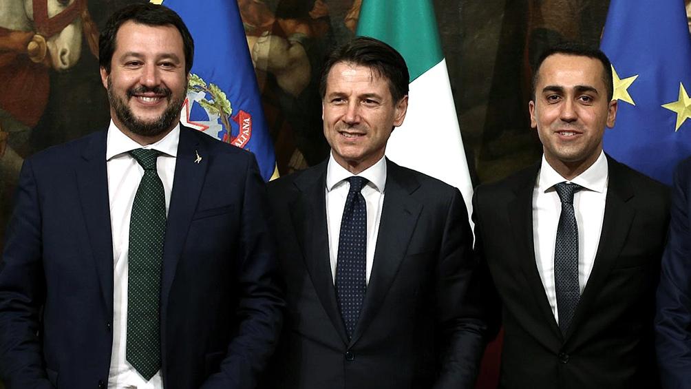 Salvini, Conte y Di Maio