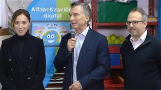 Macri presentó el programa Aprender Conectados para jardines de infantes