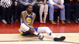 Kevin Durant sufrió la rotura del tendón de Aquiles