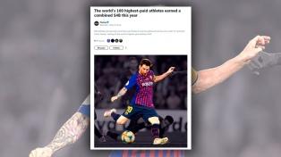 Messi, el deportista mejor pago del mundo, según la revista Forbes
