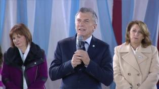 """No hemos parado de desarticular bandas peligrosas"", expresó Mauricio Macri en Rosario"