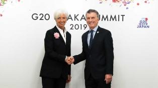 """Lagarde, tras la reunión con Macri: """"Reiteré el apoyo al programa de Argentina"""""""
