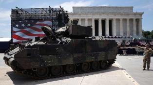Tanques, aviones y blindados: todo listo para el gran 4 de julio de Trump