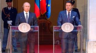 Putin agradeció al premier italiano su apoyo en la disputa con la UE