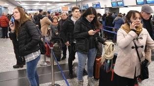 Suspenden aterrizajes en Ezeiza y hay problemas en Aeroparque por las tormentas
