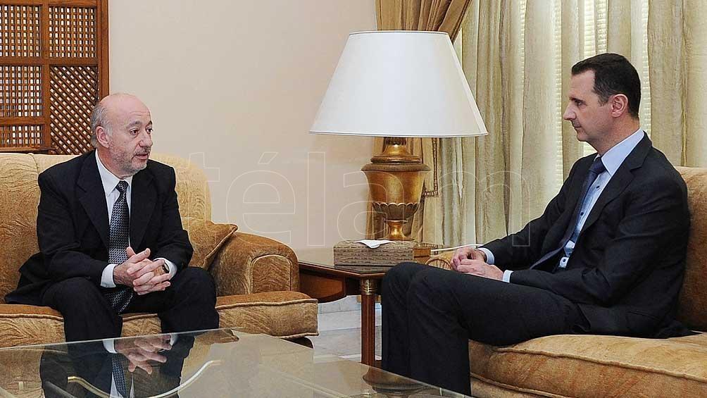 Horacio Raña viajó a Damasco en mayo de 2013 para entrevistar al presidente sirio Al Assad.