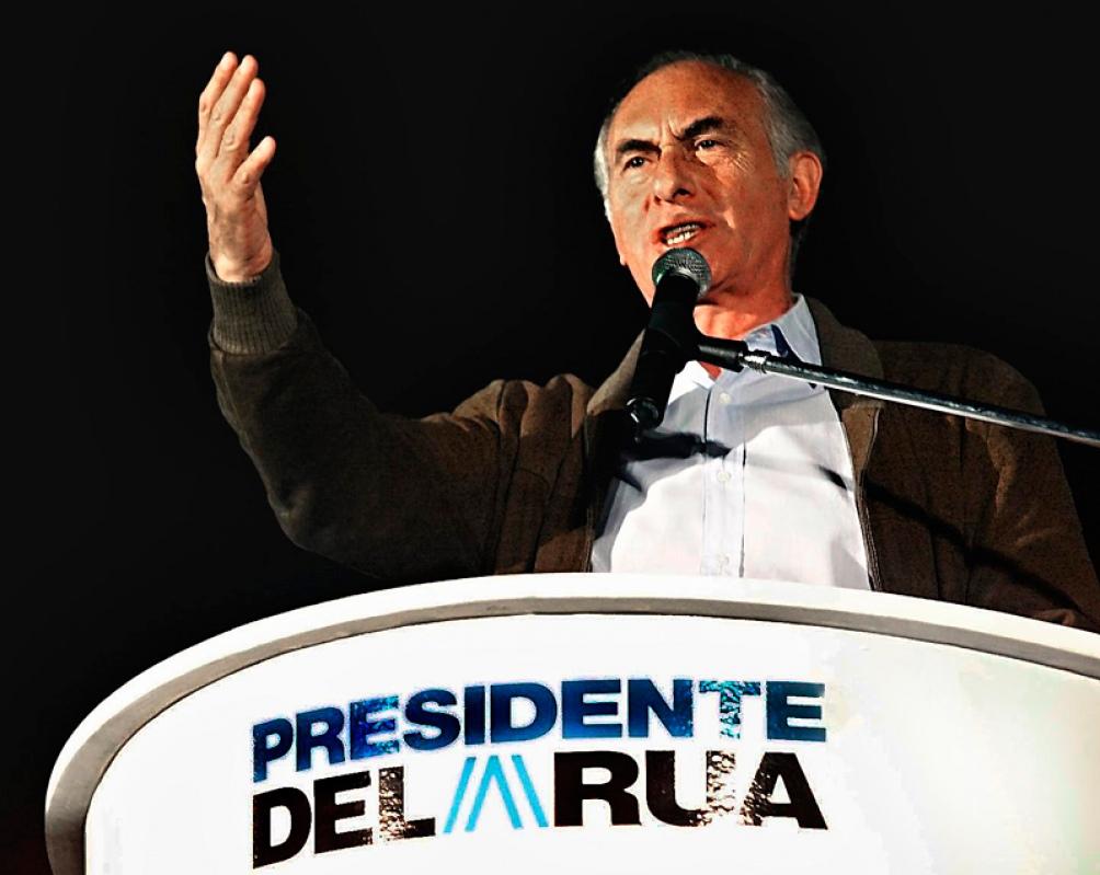 El candidato de la Alianza para el Trabajo, la En 1999 el candidato de la Alianza, una coalición entre la UCR y el Frente País Solidario obtuvo el 48.37% de los votos.