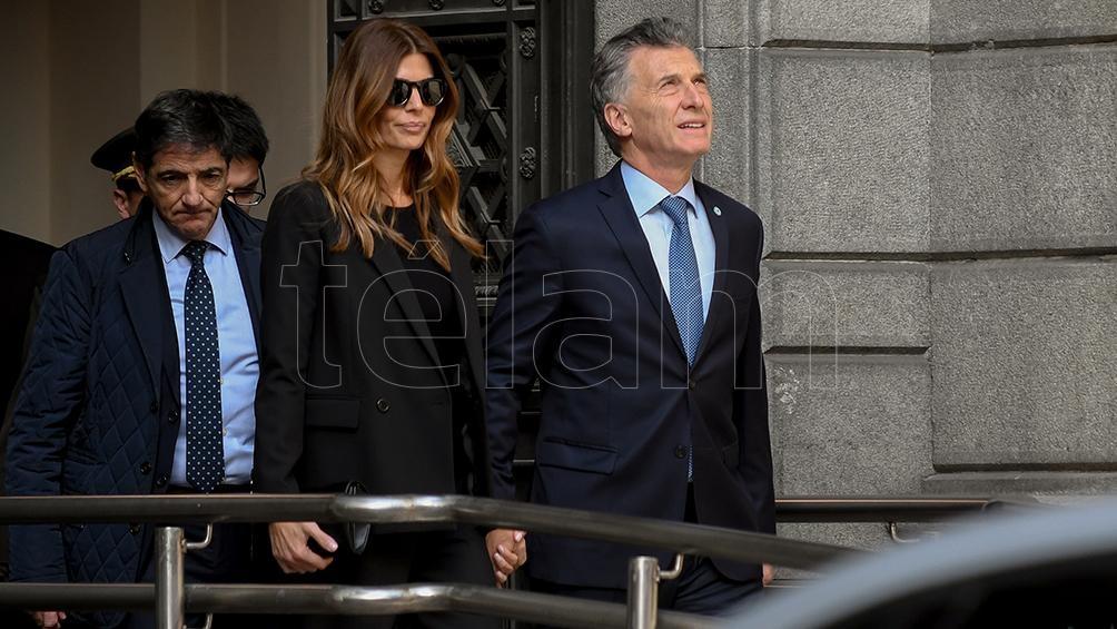 El Presidente le dio su pésame a Antonio De la Rúa, uno de los hijos del ex presidente.