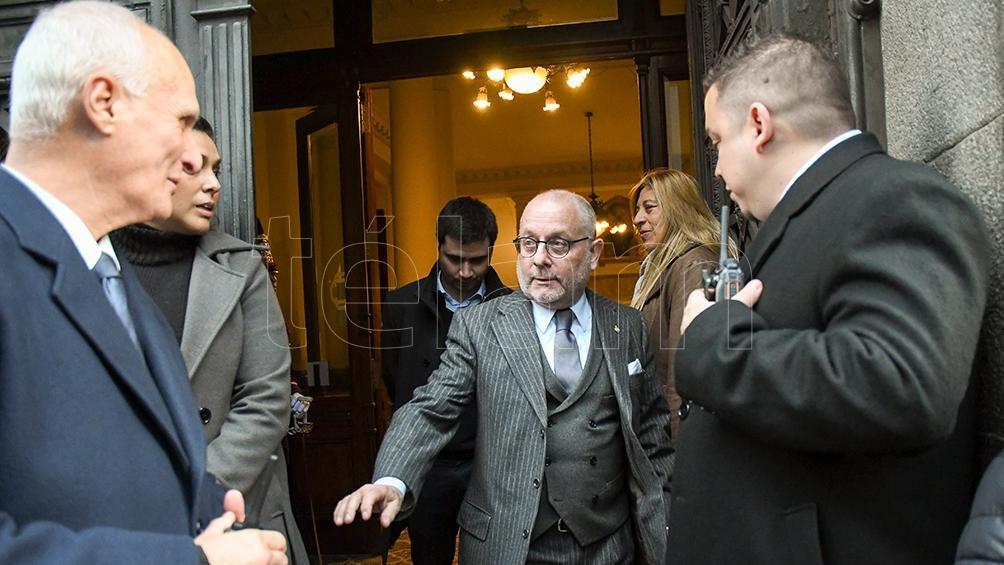 El canciller Jorge Faurie se acercó a despedir al ex presidente.