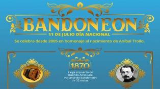 Tango y dibujos en vivo para celebrar el Día Nacional del Bandoneón