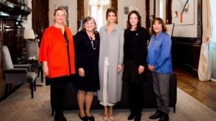 Juliana Awada recibió a la directora regional de ONU Mujeres