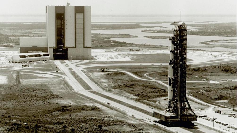 20/5/1969. Vista de Cabo Kennedy, dos meses antes de la llegada a la luna del Apolo 11.