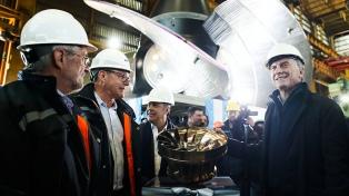 Macri recorrió las instalaciones de Industrias Metalúrgicas Pescarmona