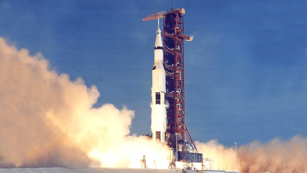 16/7/1969. A las 10,32 horas se produjo el despegue del Saturno V que llevó al espacio al Apolo 11.