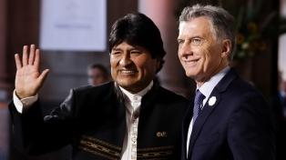 """Morales dice que no quiere """"lo que está ocurriendo en Argentina"""""""